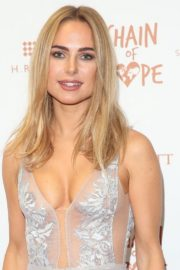 Kimberley Garner flashes her cleavage at Chain of Hope Ball in London 2019/11/22 12