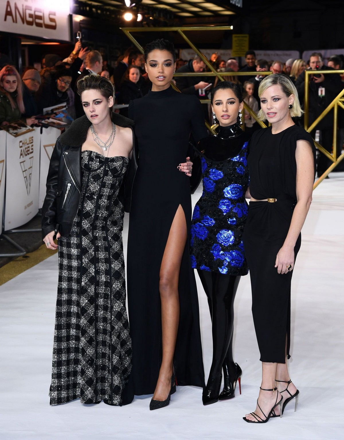 "Kristen Stewart, Ella Balinska, Naomi Scott and Elizabeth Banks at ""Charlie's Angels"" UK Premiere in London 2019/11/20 11"
