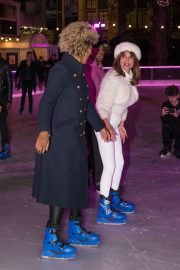 Lizzie Cundy enjoys Natural History Museum Ice Rink Launch Party in London 2019/10/23 14