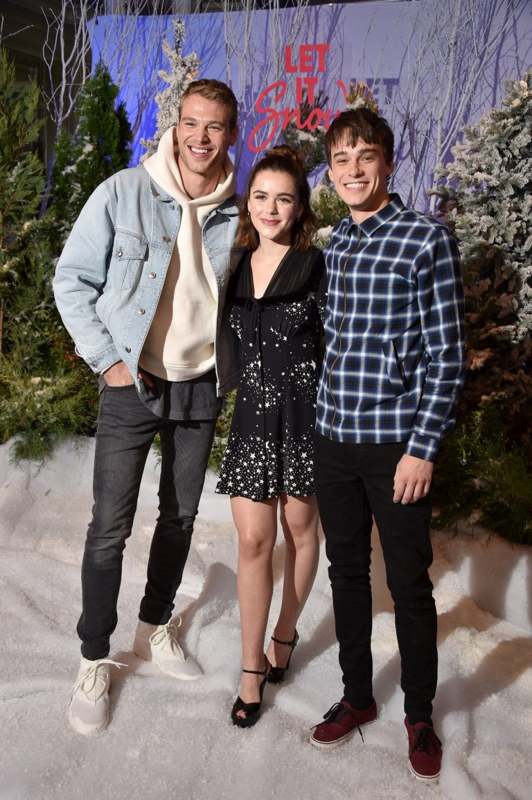 "Matthew Noszka, Mitchell Hope and Kiernan Shipka arrives Netflix's ""Let It Snow"" at Four Seasons Hotel in Beverly Hills 2019/11/01 15"