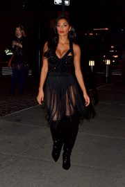 Nicole Scherzinger flashes her beautiful legs after 2019 Halloween Party 2019/10/31 2