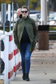 Pregnant Anne Hathaway with her husband Out in Fairfield County in Connecticut  11/06/2019 5