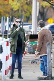 Pregnant Anne Hathaway with her husband Out in Fairfield County in Connecticut  11/06/2019 6