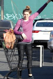 Pregnant Danielle Panabaker grocery shopping out in Hollywood 2019/11/08 1