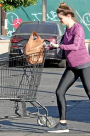 Pregnant Danielle Panabaker grocery shopping out in Hollywood 2019/11/08 3