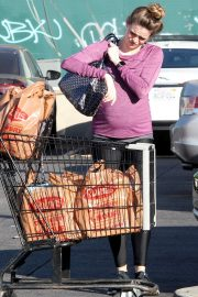 Pregnant Danielle Panabaker grocery shopping out in Hollywood 2019/11/08 9