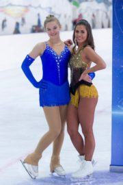 Sarah Lombardi dance on ice with her partner at SUPERNOVA Photocall Eissporthalle Frankfurt in Germany 2019/11/25 2