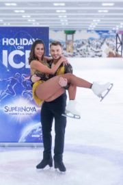 Sarah Lombardi dance on ice with her partner at SUPERNOVA Photocall Eissporthalle Frankfurt in Germany 2019/11/25 3