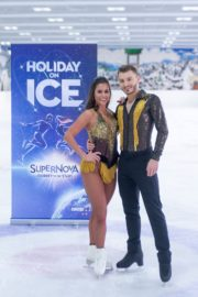 Sarah Lombardi dance on ice with her partner at SUPERNOVA Photocall Eissporthalle Frankfurt in Germany 2019/11/25 4