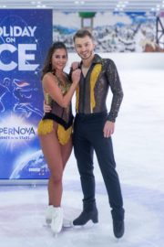 Sarah Lombardi dance on ice with her partner at SUPERNOVA Photocall Eissporthalle Frankfurt in Germany 2019/11/25 6