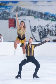 Sarah Lombardi dance on ice with her partner at SUPERNOVA Photocall Eissporthalle Frankfurt in Germany 2019/11/25 8