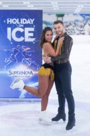 Sarah Lombardi dance on ice with her partner at SUPERNOVA Photocall Eissporthalle Frankfurt in Germany 2019/11/25 9