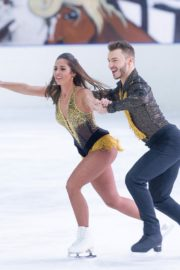 Sarah Lombardi dance on ice with her partner at SUPERNOVA Photocall Eissporthalle Frankfurt in Germany 2019/11/25 10