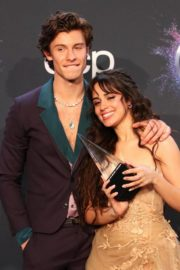 Shawn Mendes and Camila Cabello attend 2019 American Music Awards at Microsoft Theater in Los Angeles 2019/11/24 10