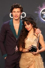 Shawn Mendes and Camila Cabello attend 2019 American Music Awards at Microsoft Theater in Los Angeles 2019/11/24 11