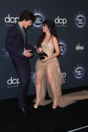 Shawn Mendes and Camila Cabello attend 2019 American Music Awards at Microsoft Theater in Los Angeles 2019/11/24 16