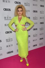 Tallia Storm in Neon Dress at  The Beauty Awards 2019 in London 2019/11/25 3
