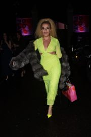 Tallia Storm in Neon Dress at  The Beauty Awards 2019 in London 2019/11/25 5