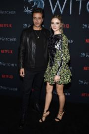 Adam Levy and Freya Allan attend The Witcher Photocall in Hollywood 2019/12/03 4