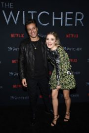 Adam Levy and Freya Allan attend The Witcher Photocall in Hollywood 2019/12/03 5