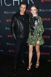 Adam Levy and Freya Allan attend The Witcher Photocall in Hollywood 2019/12/03 6