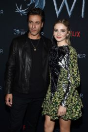 Adam Levy and Freya Allan attend The Witcher Photocall in Hollywood 2019/12/03 9