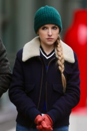 Anna Kendrick on the set of 'Love Life' in New York City 2019/12/04 8