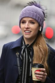 Anna Kendrick on the set of 'Love Life' in New York City 2019/12/04 11