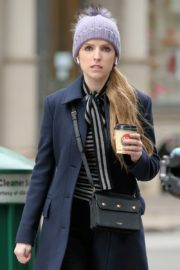 Anna Kendrick on the set of 'Love Life' in New York City 2019/12/04 12