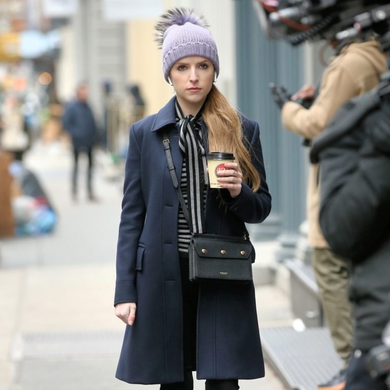 Anna Kendrick on the set of 'Love Life' in New York City 2019/12/04 13