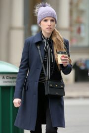 Anna Kendrick on the set of 'Love Life' in New York City 2019/12/04 14