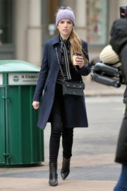 Anna Kendrick on the set of 'Love Life' in New York City 2019/12/04 15