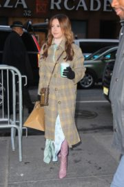 Ashley Tisdale stylish looks in long coat with long boots out in New York City 2019/12/04 8