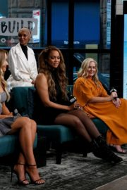Camille Kostek, Hunter McGrady, Tyra Banks, Halima Aden and MJ Day discuss Build Series in New York 2019/05/08 2