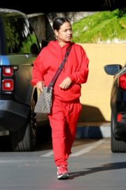 Christina Milian seen in red outfit at her Beignet Box outside in Studio City 2019/12/15 2