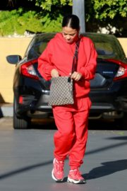 Christina Milian seen in red outfit at her Beignet Box outside in Studio City 2019/12/15 4