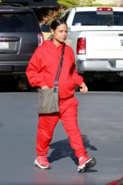 Christina Milian seen in red outfit at her Beignet Box outside in Studio City 2019/12/15 5