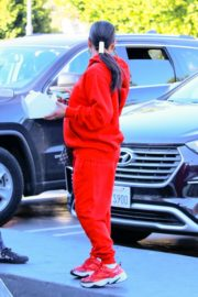 Christina Milian seen in red outfit at her Beignet Box outside in Studio City 2019/12/15 6