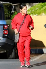 Christina Milian seen in red outfit at her Beignet Box outside in Studio City 2019/12/15 13
