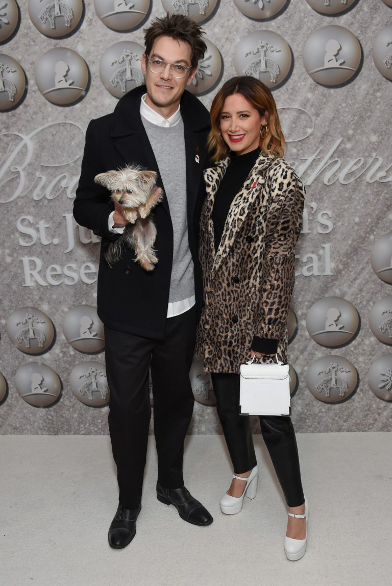 Christopher French and Ashley Tisdale attend Brooks Brothers Holiday Celebration St. Jude in West Hollywood 2019/12/07 3