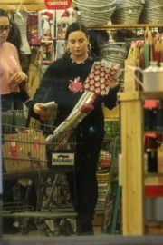 Demi Lovato shopping at a Cost Plus Market in Westwood 2019/12/18 2