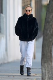 Diane Kruger in Black Hoodie and White Bottom out in New York City 2019/12/18 2