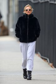 Diane Kruger in Black Hoodie and White Bottom out in New York City 2019/12/18 4