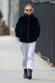 Diane Kruger in Black Hoodie and White Bottom out in New York City 2019/12/18 5