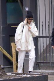Dua Lipa in white outfit out and about in New York City 2019/12/19 4