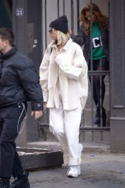 Dua Lipa in white outfit out and about in New York City 2019/12/19 5