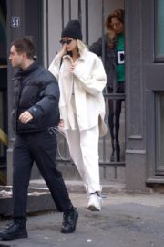 Dua Lipa in white outfit out and about in New York City 2019/12/19 7