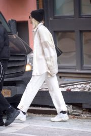Dua Lipa in white outfit out and about in New York City 2019/12/19 8
