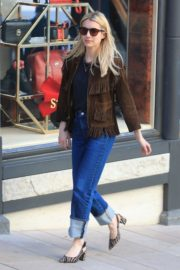 Emma Roberts in stylish brown jacket out shopping in Beverly Hills 2019/12/18 18