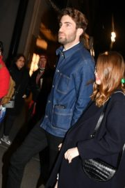 Emma Stone and her partner Dave McCary out the SNL afterparty in New York 2019/12/07 1